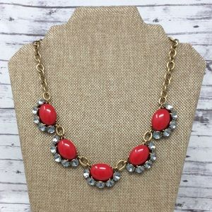 Stella and Dot Mae Red Statement Necklace